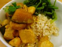 鐵鍋南洋風雞肉南瓜咖哩