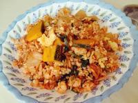 健康料理//韓式泡菜南瓜炒飯