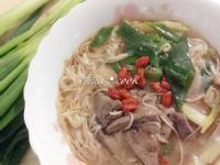 節氣料理-大雪NO.3❤蔥煨豬肝麵線❤