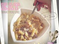 白醬捲捲義大利麵