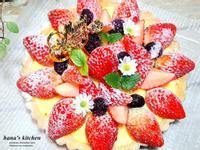 草莓乳酪卡士達醬塔