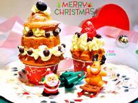 聖誕樹香草杯子蛋糕