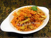 ♥憶柔蔬食♥紅蘿蔔絲炒豆皮~素食