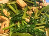山芹菜炒豬肉絲
