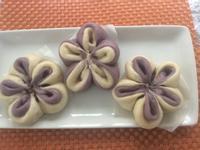 花式麵食之一:紫薯梅花包
