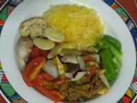 [電鍋料理]素肉咖哩金桔醬拌米粉