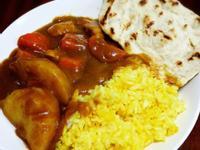 咖哩薑黃飯&印度烤餅