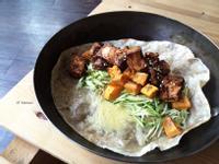 辣麻醬烤豆腐地瓜全麥捲餅 / 五辛素