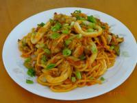 韓國辣醬海鮮炒麵