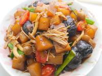 紅燒蕈菇大頭菜