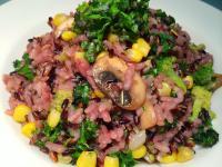 快速簡易版燉飯~ 奶油青蔬蘑菇紫米燉飯