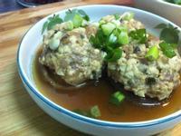 【香菇鑲肉】改為健康的一半豆腐一半肉