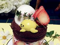 速成零失敗蛋黃哥草莓蛋糕