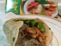 【夜市小吃】穀盛綠咖哩豬肉捲餅