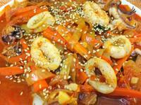 超下飯! 韓式泡菜辣炒花枝