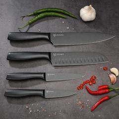 ZENKO高碳鋼極黑廚刀四入組