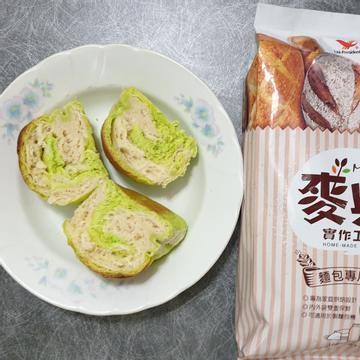 勇兔跟著做了雙色抹茶吐司【麥典實作工坊麵包專用粉】