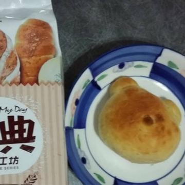 勇兔跟著做了簡單揉「小熊甜筒麵包」夏日裡的療癒麵包♪
