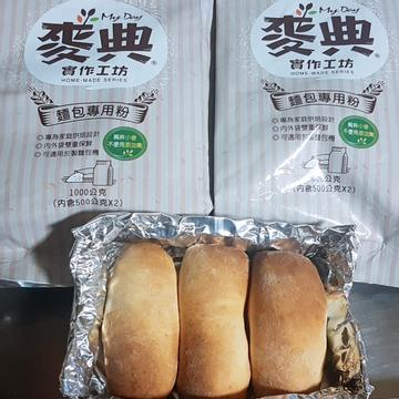 達媽練功房😁跟著做了【麥典實作工坊麵包專用粉】鮮奶小吐司