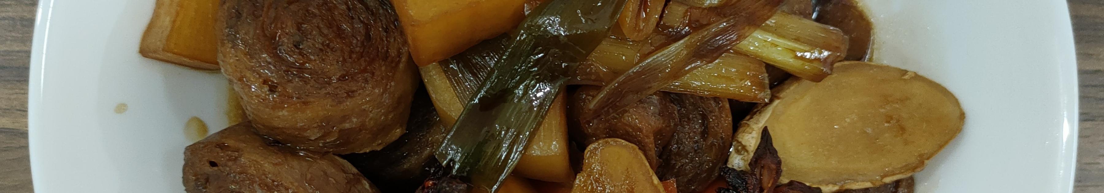 红烧双色萝蔔豆轮(可素食)