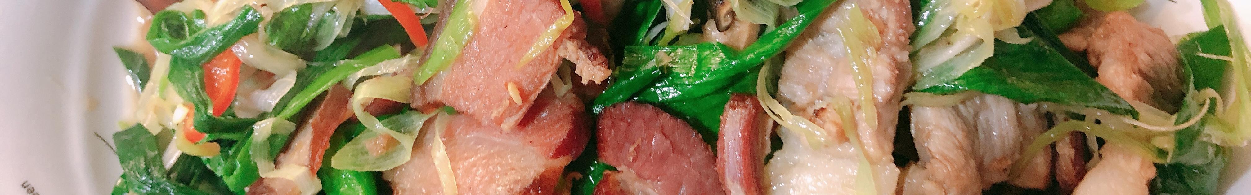 蒜苗腊肉(健康版)
