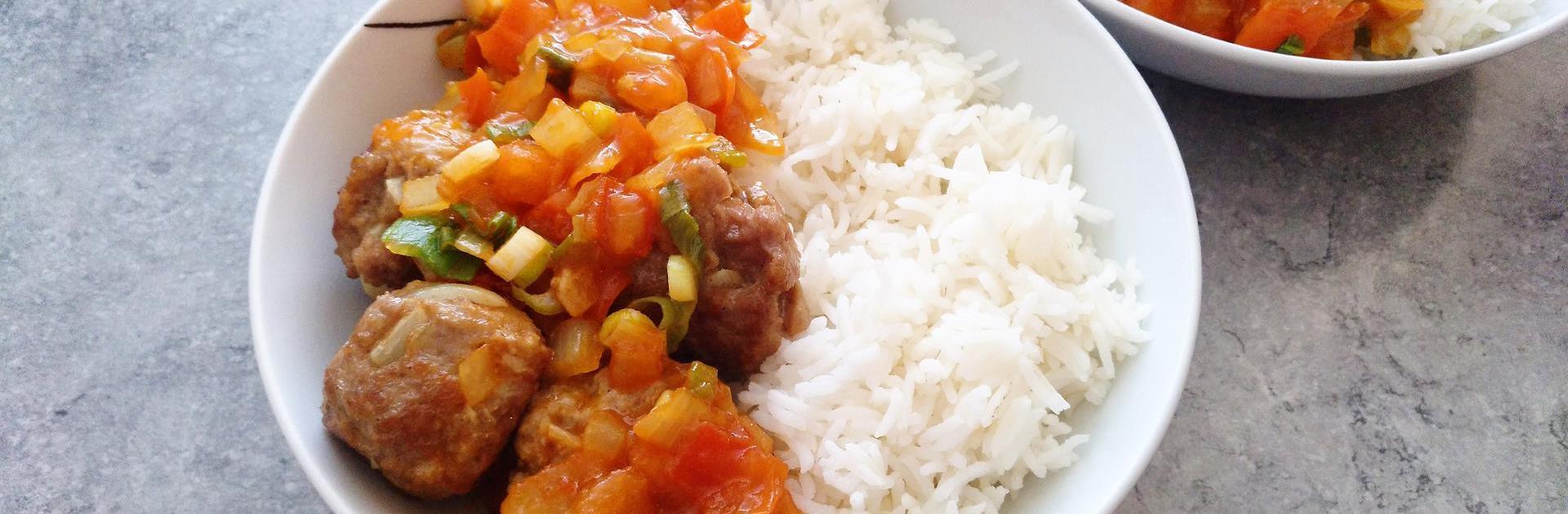 蕃茄肉丸饭