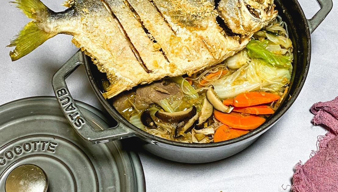台式鲳鱼米粉汤