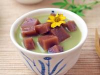 抹茶牛奶紅豆年糕湯