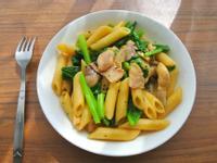 【外宿料理】和風蔬菜培根義大利麵