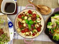 橄欖油香蒜烏魚子烤番茄櫛瓜馬鈴薯
