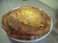 超簡單的-炸蛋蔥油餅