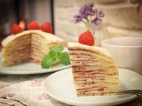 草莓巧克力千層蛋糕~層層草莓迷人香氣!