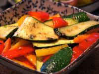 櫛瓜蔬菜溫沙拉
