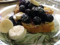 黑莓法式土司❤!!!