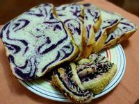 紫薯花吐司(麵包機)