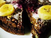 地瓜藍莓巧克力低卡高蛋白蛋糕