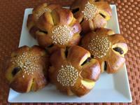 南瓜豆沙麵包