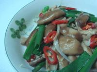 青蔥炒鮮菇