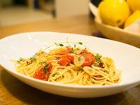 蒜辣油漬蕃茄百里香義大利麵