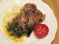 香料烹雞腿佐薯泥-梅爾雷赫冷壓初榨橄欖油