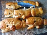 海洋鯨魚咖啡蜜紅豆麻糬麵包❤!!!
