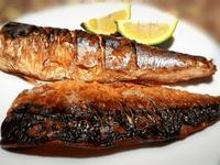 香煎。薄鹽鯖魚
