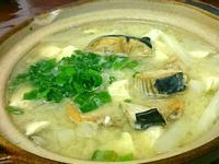 魠魚頭白玉味噌湯