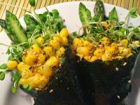 日式蘆筍苜蓿芽海苔手卷