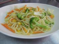 白醬蔬菜義大利麵