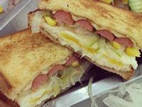 簡易古巴熱狗三明治
