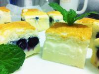 【藍莓香草魔法蛋糕】一次烘烤三層口感