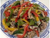 青甜椒炒肉絲