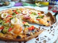 超簡單海鮮披薩『維力炸醬』