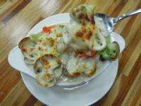 焗烤系列-白醬焗烤海鮮飯